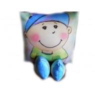 Подушка,интерьерная,Мальчик,Трикотаж,