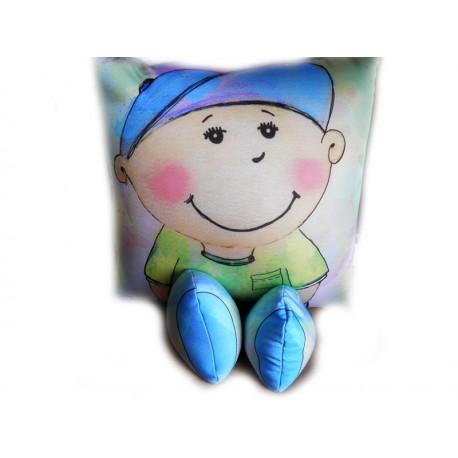 Подушка,интерьерная,Мальчик,Трикотаж,10см