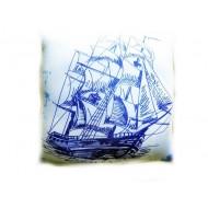 Подушка,интерьерная,Корабль,Трикотаж,