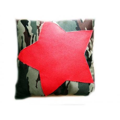 Подушка,интерьерная,Звезда-камуфляж 3,Трикотаж,