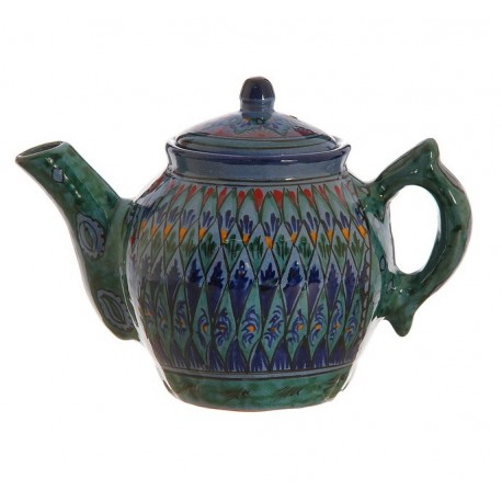 Чайник малый 0,8 л, роспись Риштан,