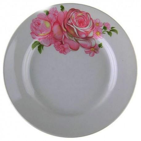 Тарелка мелкая d.17,5 см h.2,6 см ,Розовые розы,