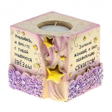 Подсвечник со свечой ,Загадай желание,