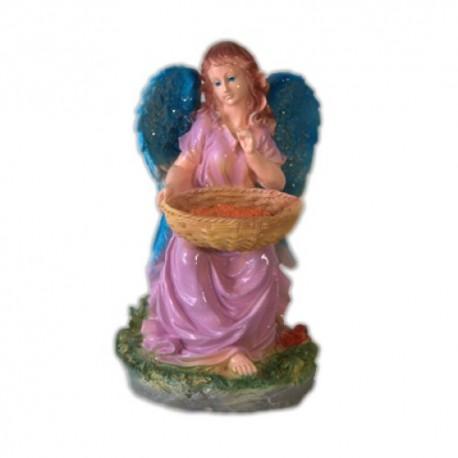 Ангел с корзиной цветной,18х30см