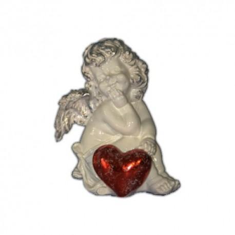 Ангел с красным сердечком,12х16см