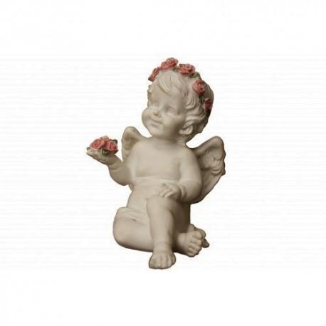 Ангел с розами в руке 15смХ10 смХ11см