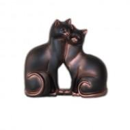 Влюбленные кошки,20х19см