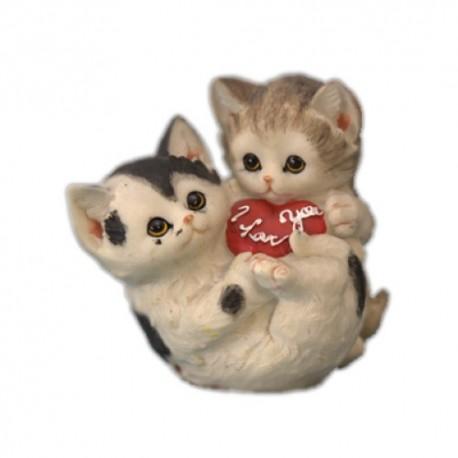 Два котенка,16х15см