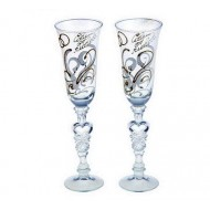 Набор свадебных бокалов ,Совет да любовь, золотой узор