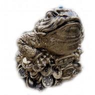 Жаба малая на деньгах,бронза,ГИПС