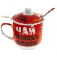 Кружка заварочная Чай настоящего мужчины, 290мл
