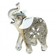 Сувенир ,Слон индийский с серебряными ушками,