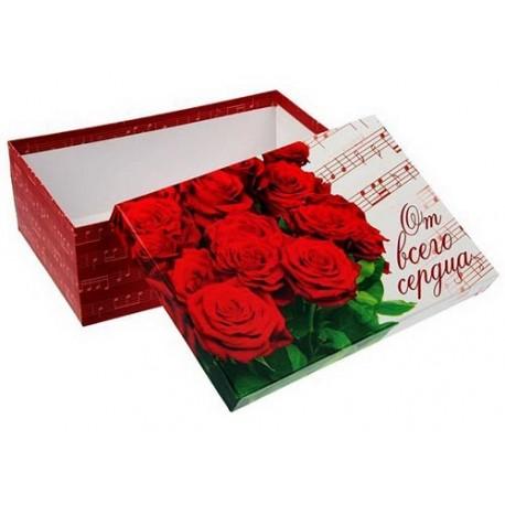 Коробка подарочная ,Букет роз, 30х20х10,5 см