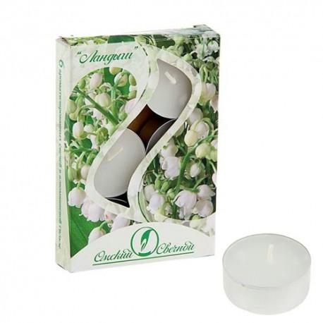 Свеча чайная ароматизированная 12 г , набор 6 шт, ландыш