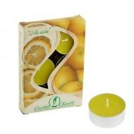 Свеча чайная ароматизированная 12 г ,набор 6 шт, лимон