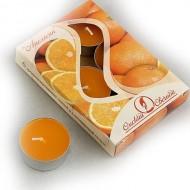 Свеча чайная ароматизированная 12 г,набор 6 шт,апельсин