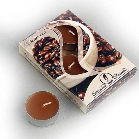 Свеча чайная ароматизированная 12 г ,набор 6 шт, эспрессо