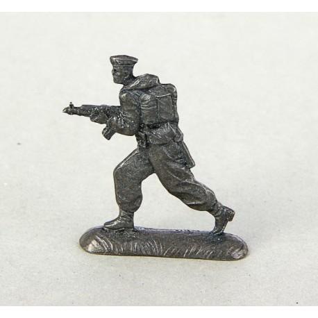 оловянный солдатик Десантник с автоматом. ВДВ