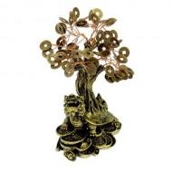 Бонсай денежное дерево ,Черепаха на слитках, 90 монет 21х10х6,5 см