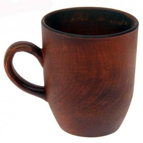 кружка чайная 0.3 литра красная глина