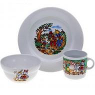 Набор детской посуды в коробке Пиноккио, 3 предмета