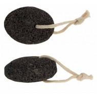Пемза натуральная крупнозернистая, овальная, цвет коричневый