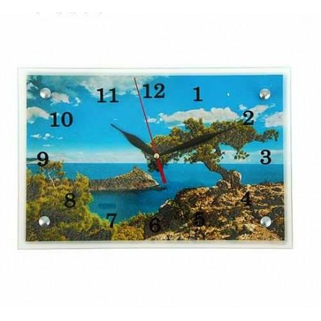 Часы настенные прямоугольные,Крым, море,20х30 см
