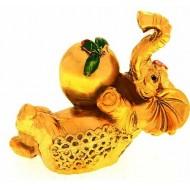 Нэцкэ под золото ,Слон с персиком,стабильность и устойчивость,