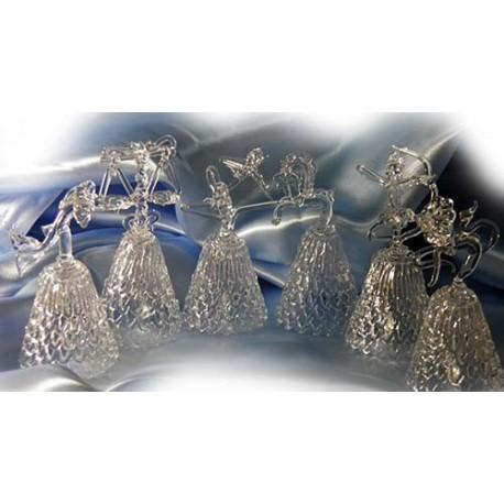 Хрустальные колокольчики,Знаки Зодиака 11Х5 см,Ассортимент 1