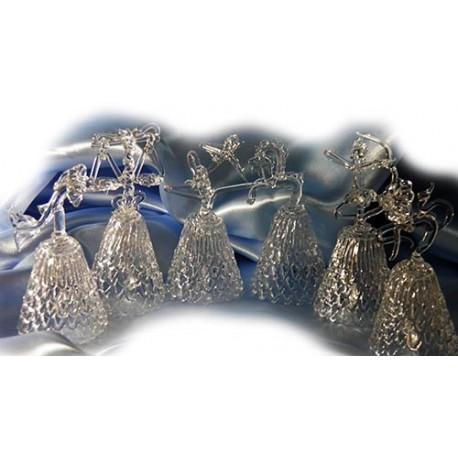 Хрустальные колокольчики,Знаки Зодиака 11Х5 см,Ассортимент 2