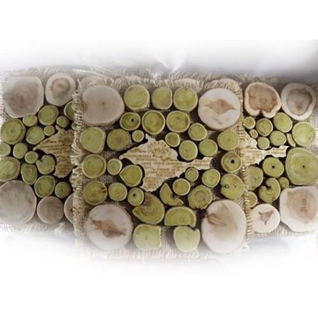 Подставка под горячее,квадратное панно,карта Крыма,17см
