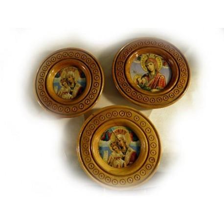 Тарелка деревянная с иконой ассортимент