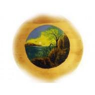 Тарелка деревянная большая