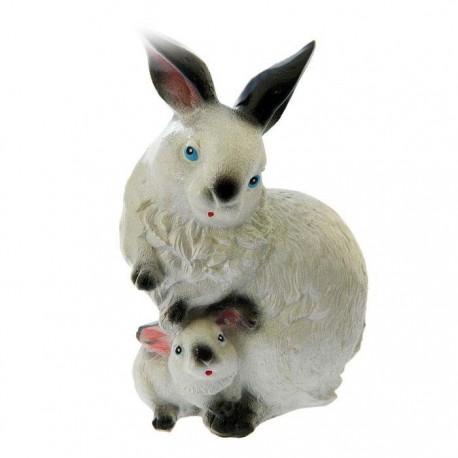 Садовая фигура ,Зайчиха с малышом,ГИПС