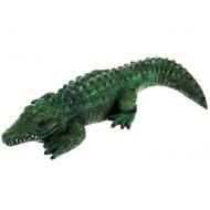 Садовая фигура ,Крокодил, изумрудная,Полистоун