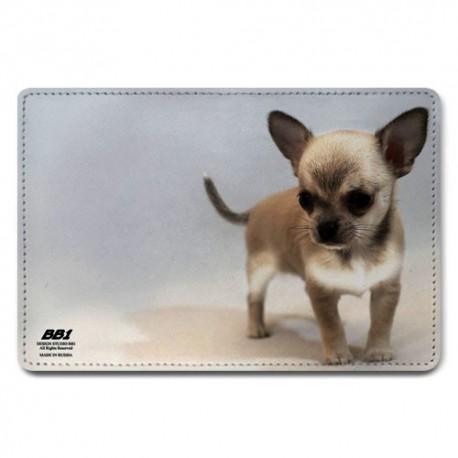 Обложка для паспорта,Собачка , натуральная кожа