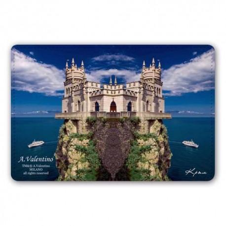 Обложка для паспорта,Крым , натуральная кожа