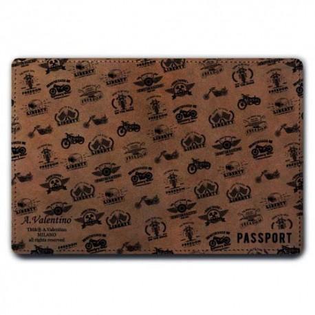 Обложка для паспорта,Стиль-1 , натуральная кожа