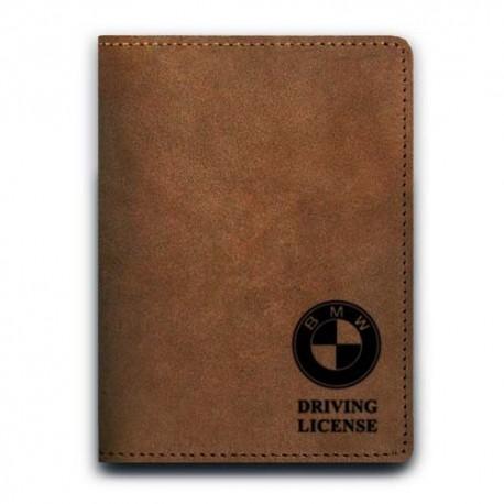 Обложка для автодокументов,BMW , натуральная кожа
