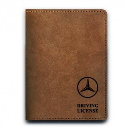 Обложка для автодокументов,Mercedes-Benz , натуральная кожа