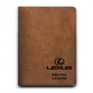 Обложка для автодокументов,LEXUS , натуральная кожа