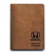 Обложка для автодокументов,HONDA , натуральная кожа