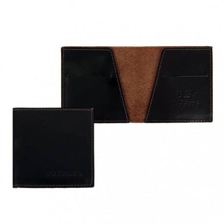 Портмоне, 1 отдел, отдел для карт, коричневый глянцевый, натуральная кожа