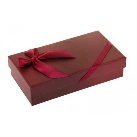 Коробка подарочная Классика, цвет бордовый