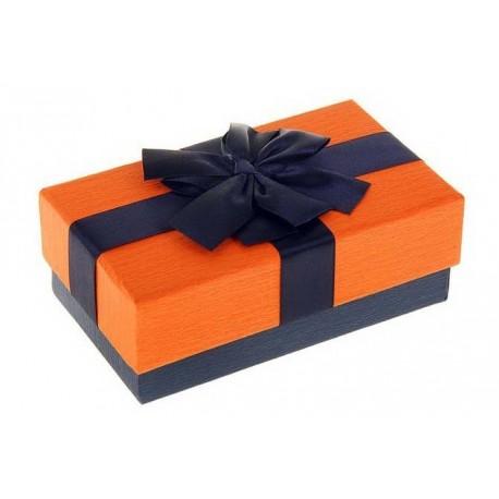 Коробка подарочная прямоуг 9 х 15,5 х 6 см,оранж