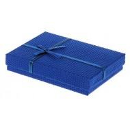Коробка подарочная прямоуг ,Соты, 16 х 12 х 3 см, цвет синий