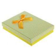 Коробка подарочная ,Торжество, цвет жёлтый