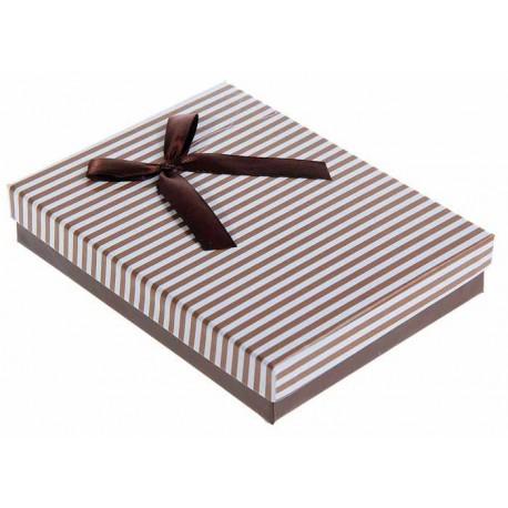 Коробка подарочная Торжество, цвет коричневый