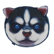 Мягкий рюкзак ,Хаски, голубые глазки