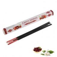 Благовония шестигранник Sarathi Cherry Jasmine Вишня жасмин 20 палочек в упаковке